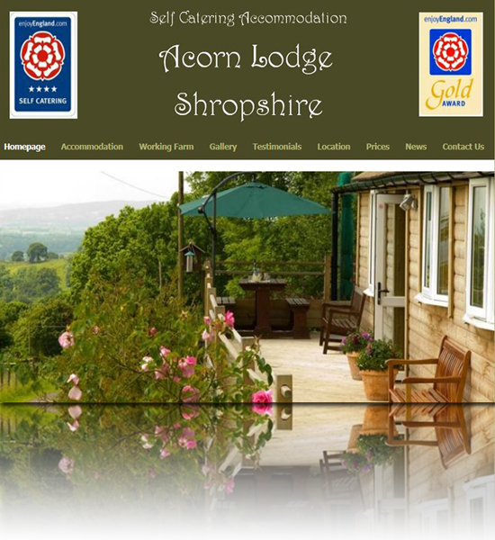 Self Catering Accommodation website in Ludlow