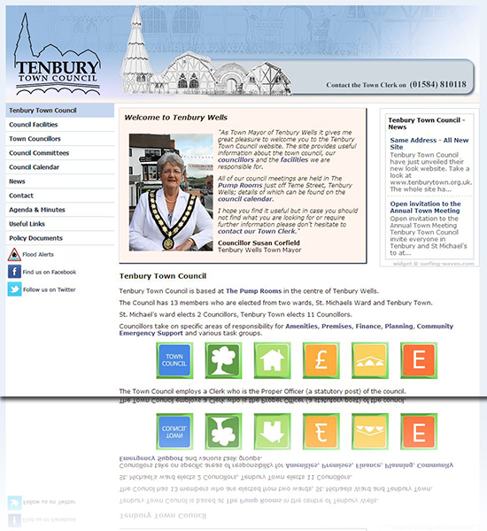 Tenbury Town Council Website