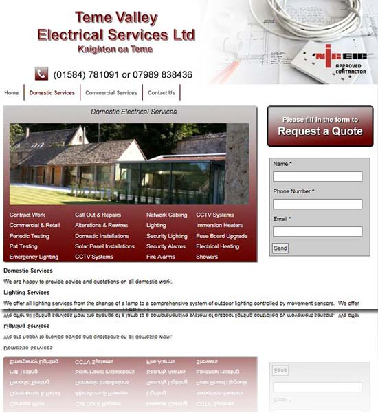 KNighton on Teme - Teme Valley Electrical Services Ltd.