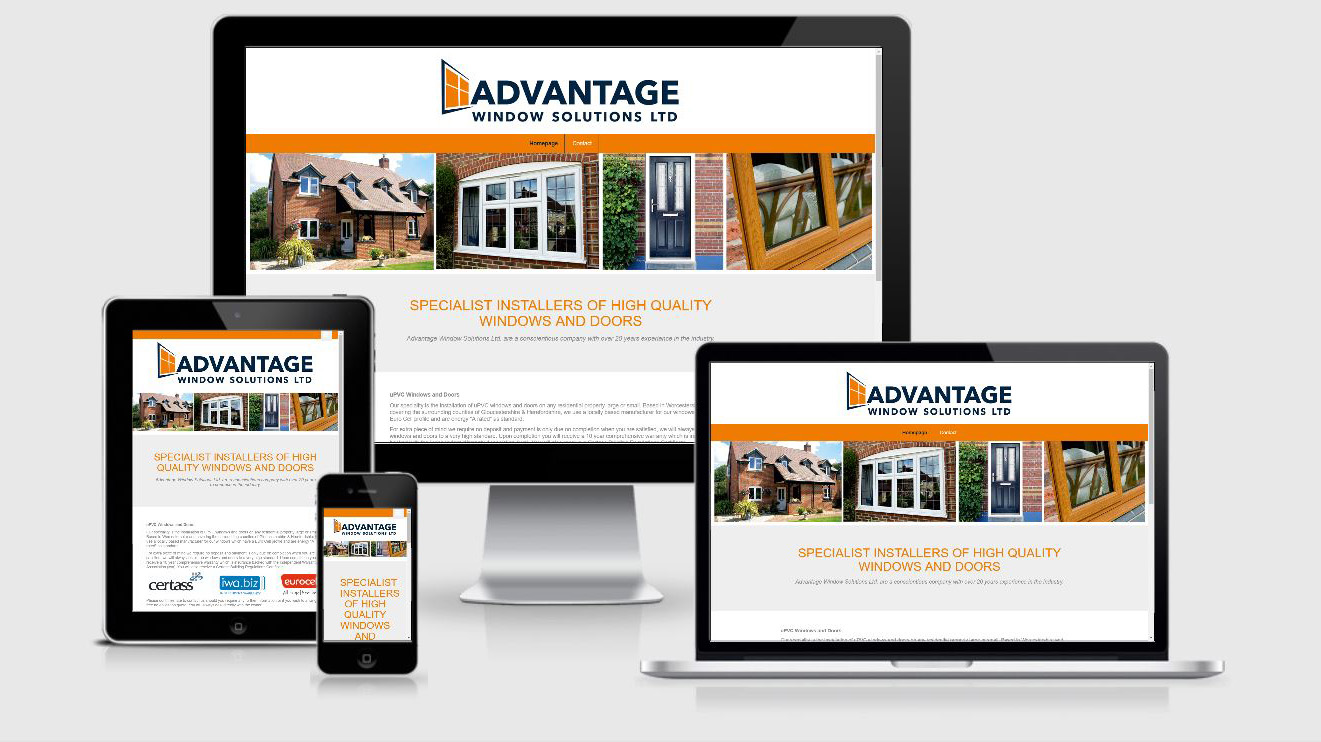 Website Package Includes Home Page