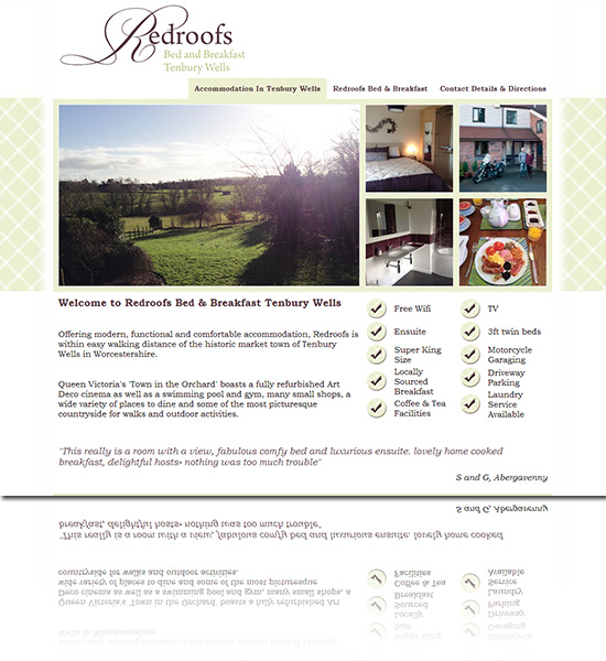 Redroofs Bed & Breakfast Tenbury Wells Worcestershire