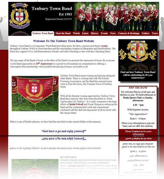 Tenbury Town Band Website